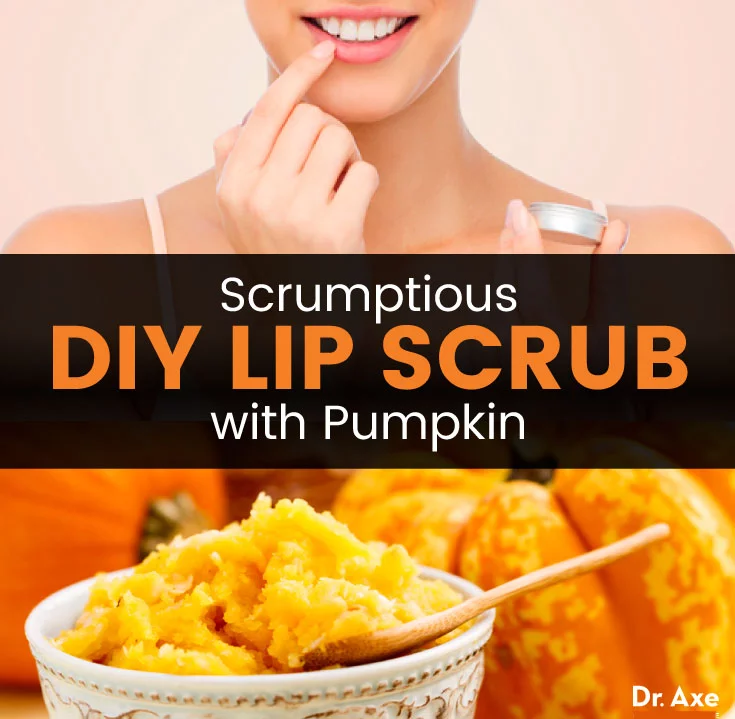 Homemade Lip Scrub with Pumpkin-Spiced Coffee Grounds #lipscrubs