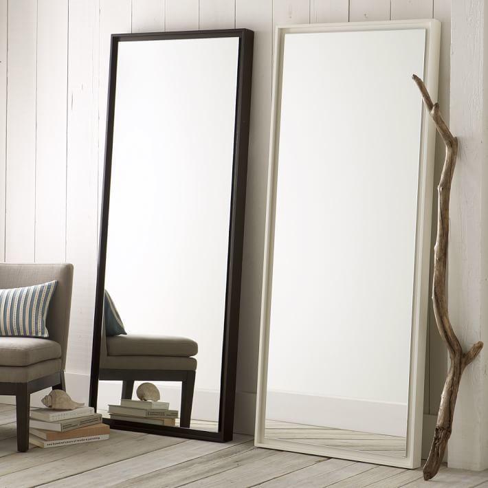 Floating Wood Floor Mirror | Espejos cuerpo entero | Pinterest ...