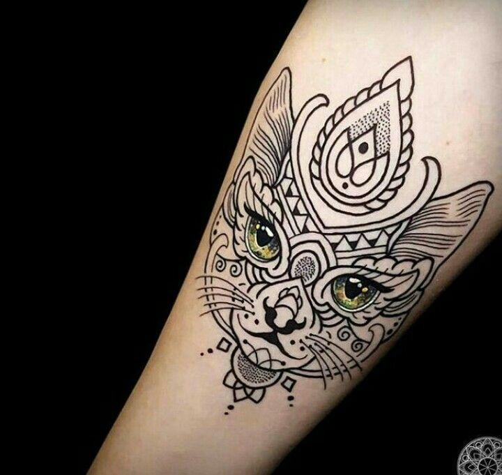 Pin By Cheryl Harris On Tattoo Mosaic Tattoo Cat Face Tattoos Tattoos