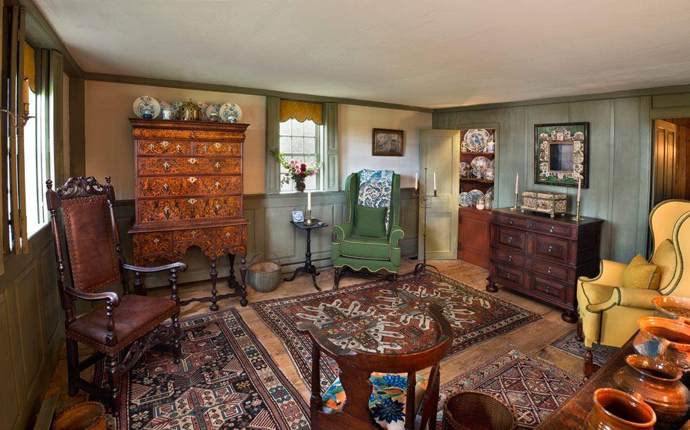 17th century american interiors   Kelton House Farm ...