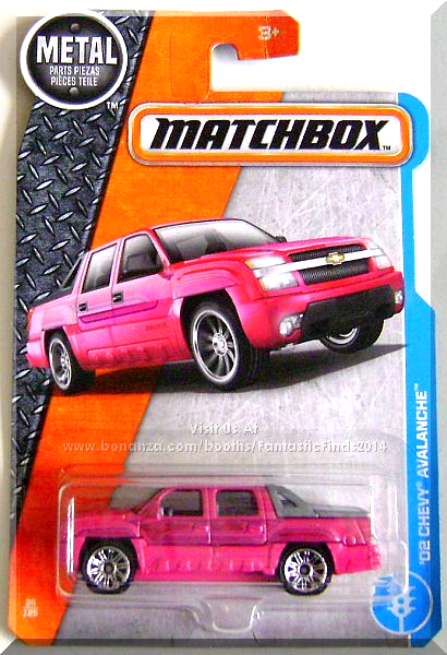 Matchbox 02 Chevy Avalanche Mbx Adventure City 24 125 2017