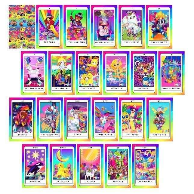 Lisa Frank tarot cards!