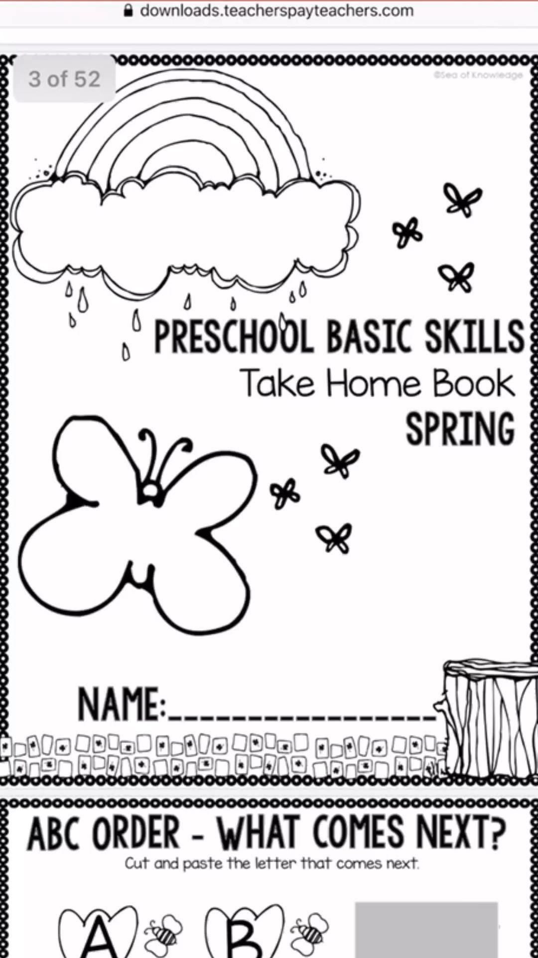 Preschool Worksheets Take Home Packet For Spring 4 Year Olds Home Olds Packet Preschool Spring Work Preschool Worksheets Preschool Preschool Activities [ 1920 x 1080 Pixel ]