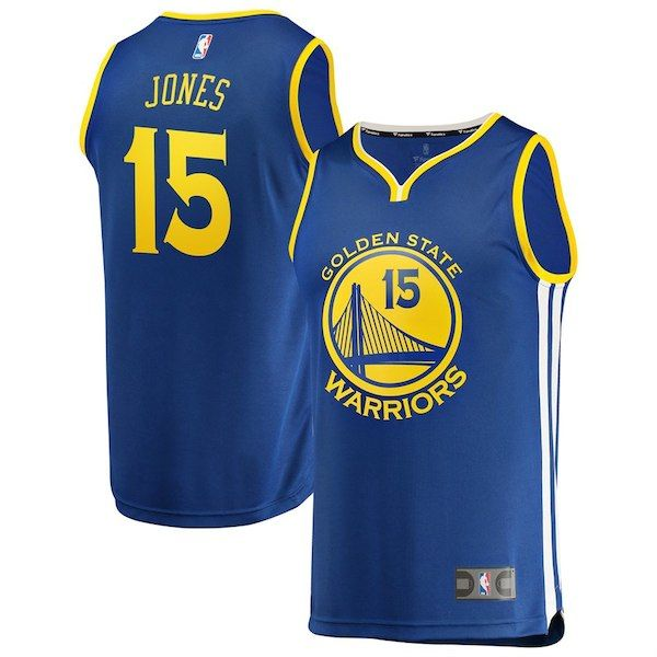 a08b586f766 Damian Jones Golden State Warriors Fanatics Branded Youth Fast Break Road Replica  Jersey Royal - Icon Edition  GoldenStateWarriors