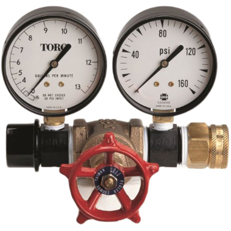Toro 995 01 Flow And Pressure Gauge Kit Dual Purpose Flow And Pressure Gauge Designed To Measure Water Pressure To Pressure Gauge Gauge Kit Irrigation System