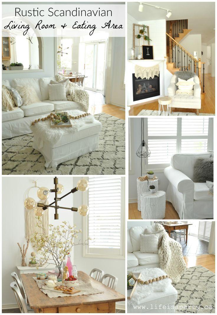 Creating A Rustic Living Room Decor: Rustic Scandinavian Living Room And Eating Area: Make Over