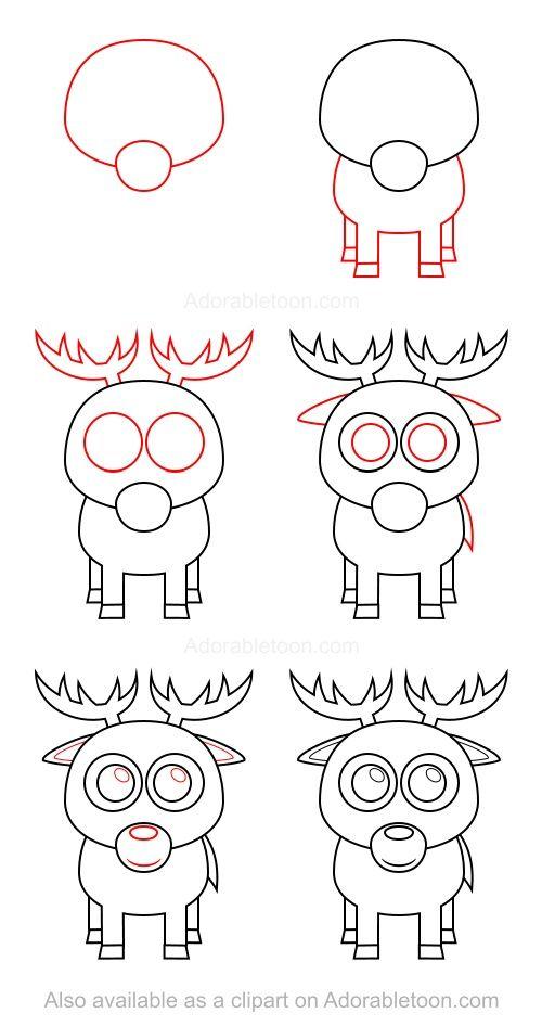 How To Draw A Deer Cizim Egitimleri Kolay Cizimler Drawing Lessons