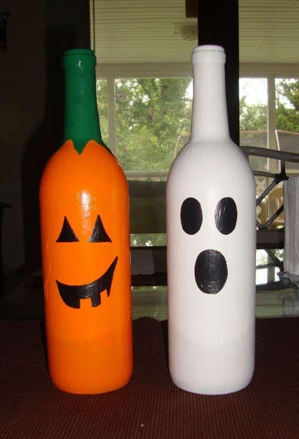 Diy Wine Bottle Pumpkins Bottles Decoration Wine Bottle Decor Bottle Crafts