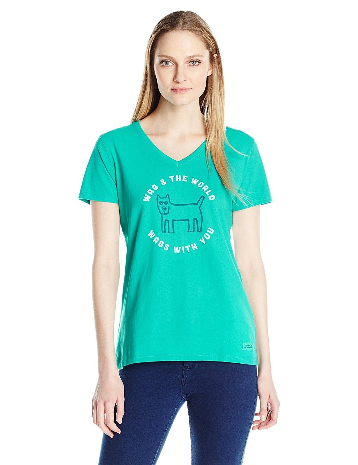 d8d4c295401d81 Women's Clothing, Active, Active Shirts & Tees, Womens Crusher Vee Wag  World Circle - Bright Teal - CO12KKQGOY1 #women #fashion #clothing #style  #outfits ...
