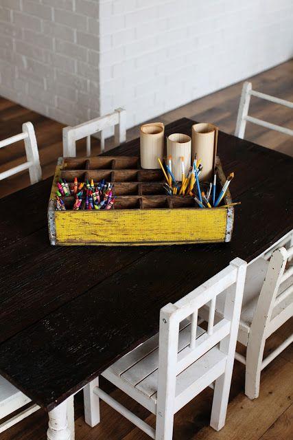 Joanna Gaines's Blog | HGTV Fixer Upper | Magnolia Homes Great idea for storing craft supplies.