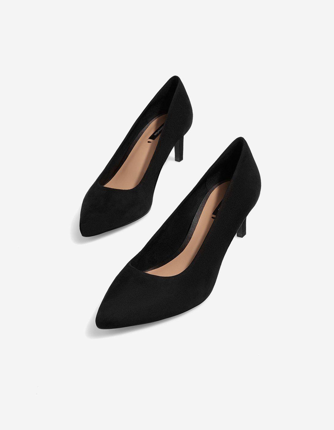Negro Zapatos Salón De Tacón España Stradivarius Medio qzwwRxfEP