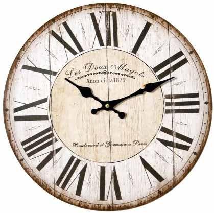 Reloj de pared vintage ca 23020 tienda especializada en - Relojes de pared ...