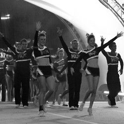One of my favorite parts about performing.. KC Cheer, I will be on that team next year!