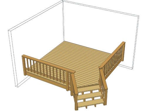 Best 10 X 10 Single Level Deck W Angled Stairs At Menards 640 x 480