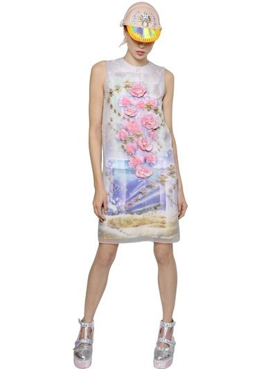 Embellished Organza & Crepe Dress   | ≼❃≽ @kimludcom