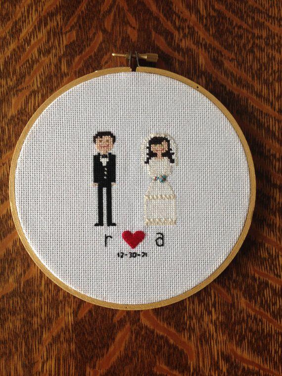 Custom Bride and Groom Wedding Cross Stitch by AStitchingGoodTime ...