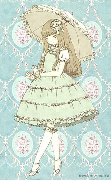 Japanese Lolita Illustration by Kira Imai.