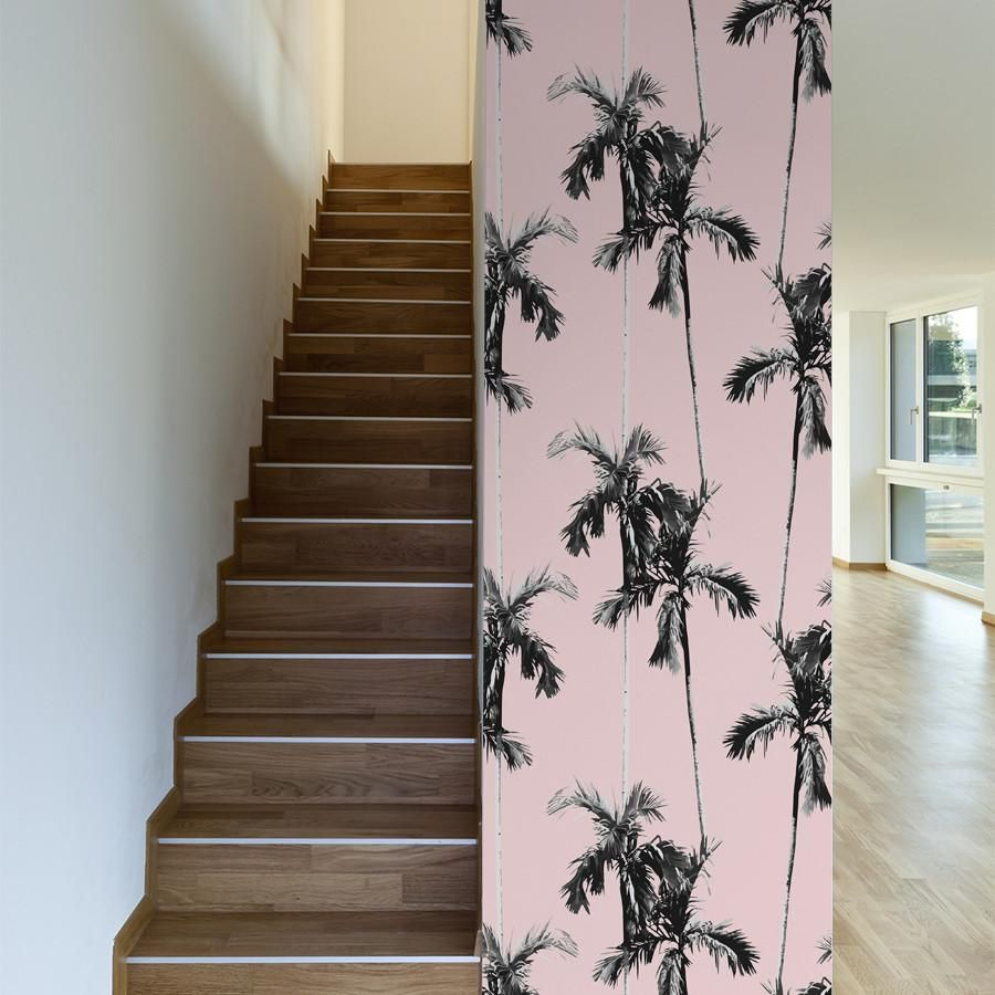 Forever Palms Tree Wallpaper For Walls Palm Trees Wallpaper Floral Pattern Wallpaper