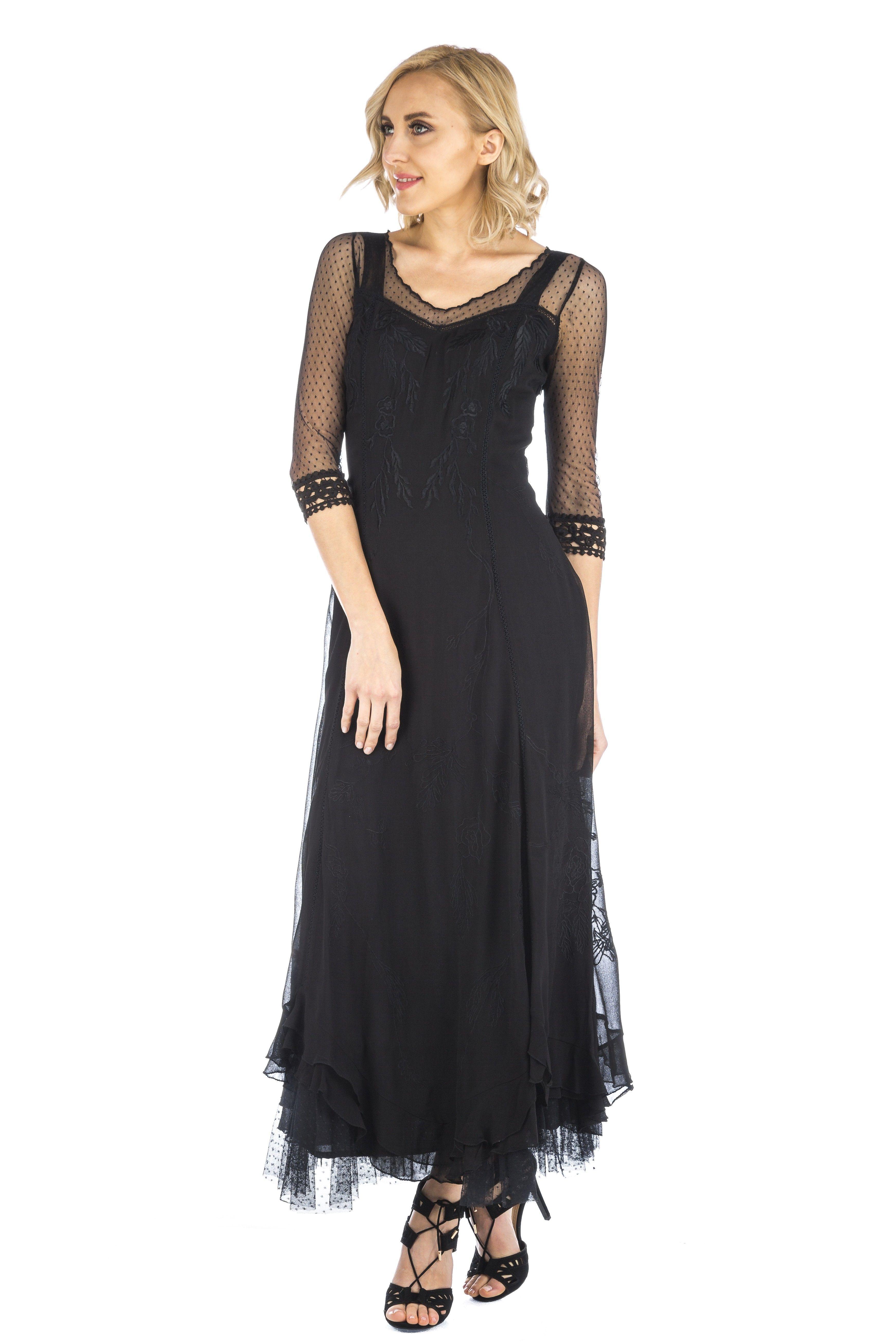Celine vintage style wedding gown in black by nataya vintage style
