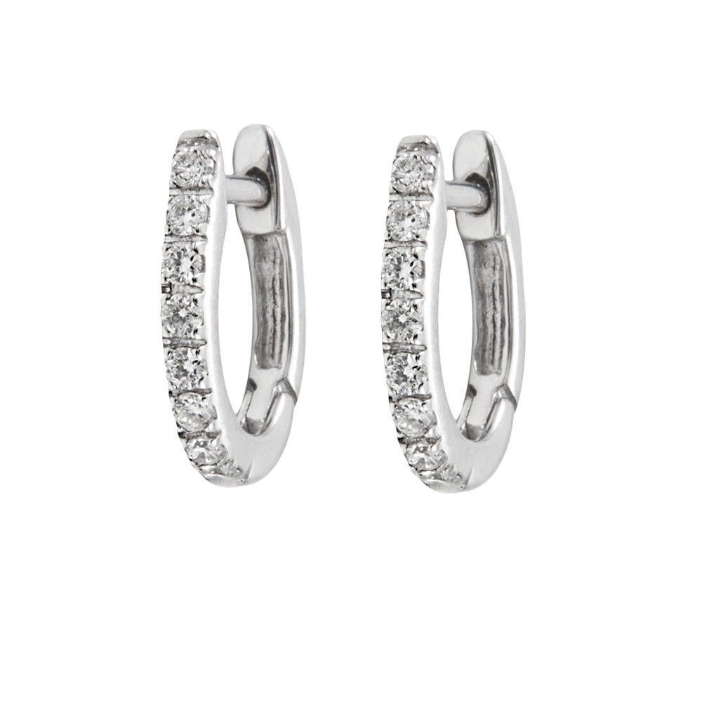 87ff04340b68 Pendientes de Carmen en su boda  Criollas mini de oro blanco y diamantes  Aretes De