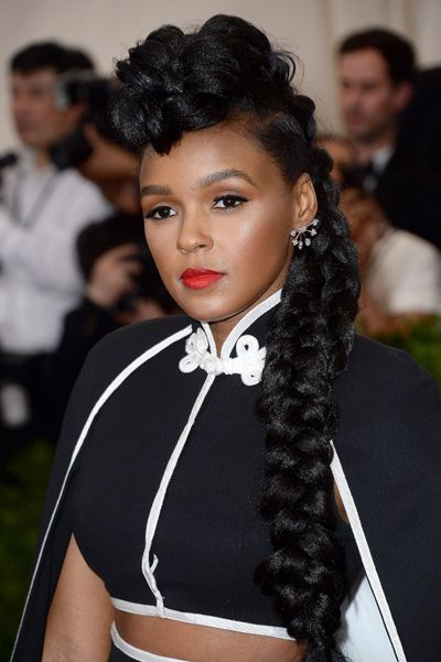Janelle Monae Braided Hairstyle Google Search Braided Hairstyles Hair Styles Box Braids Styling