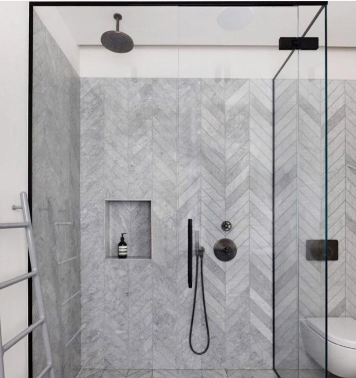 Herringbone Marble Hole In The War Minimalist Bathroom Design Bathroom Tile Designs Bathroom Design