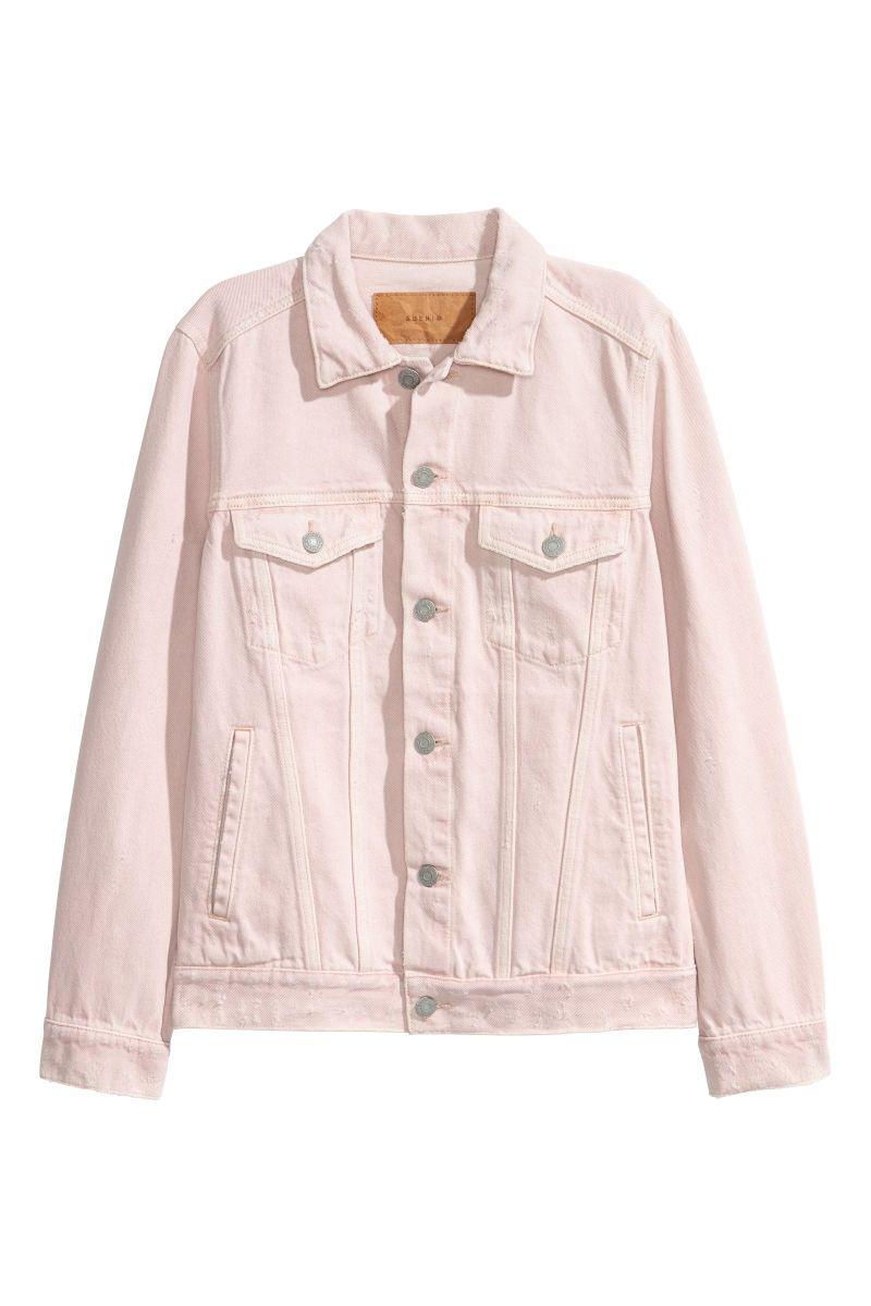 Denim Jacket   Powder pink   WOMEN   H&M US   casual   Pink