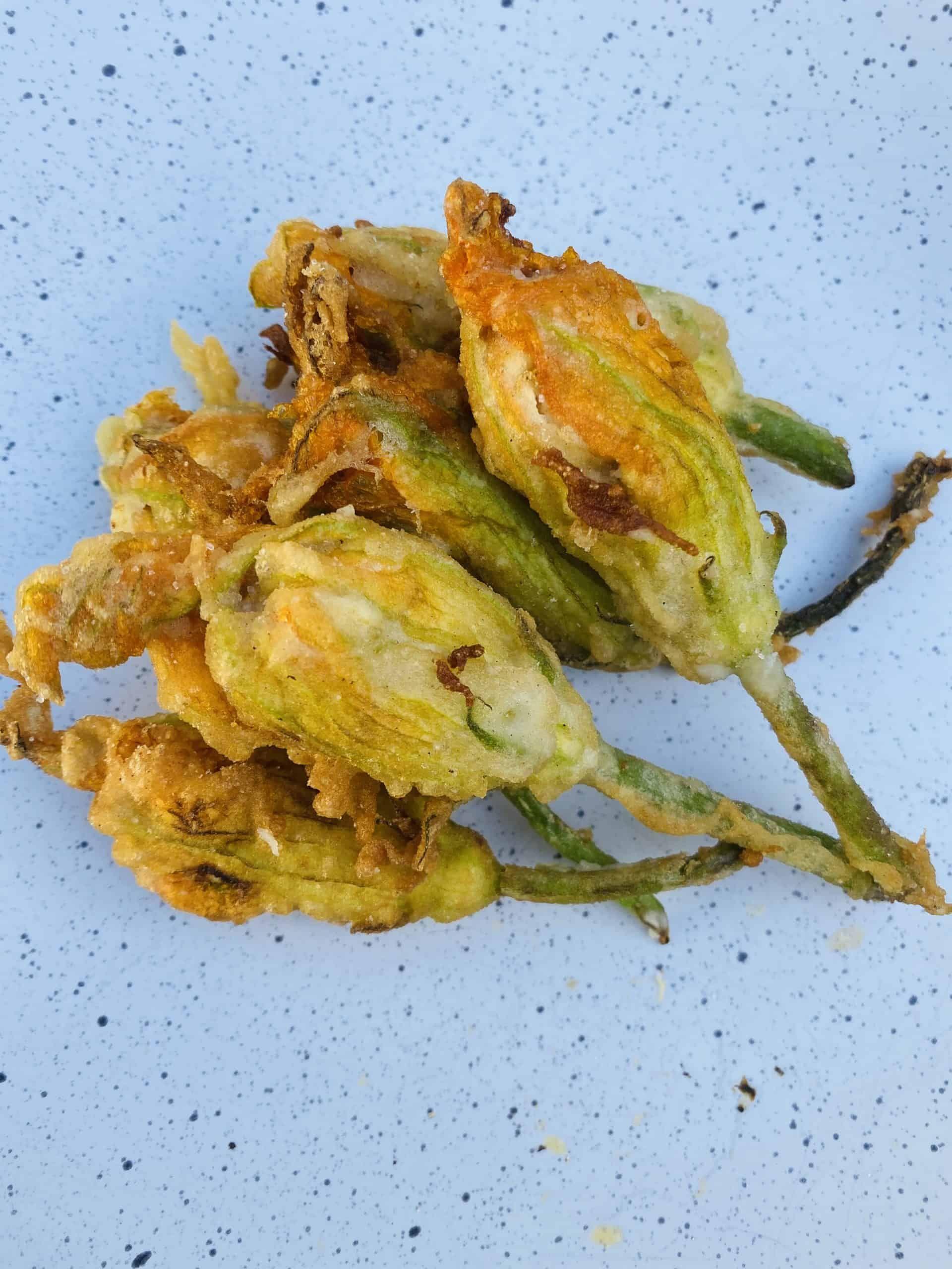 Photo of Crispy Stuffed Zucchini Flowers with Ricotta and walnuts