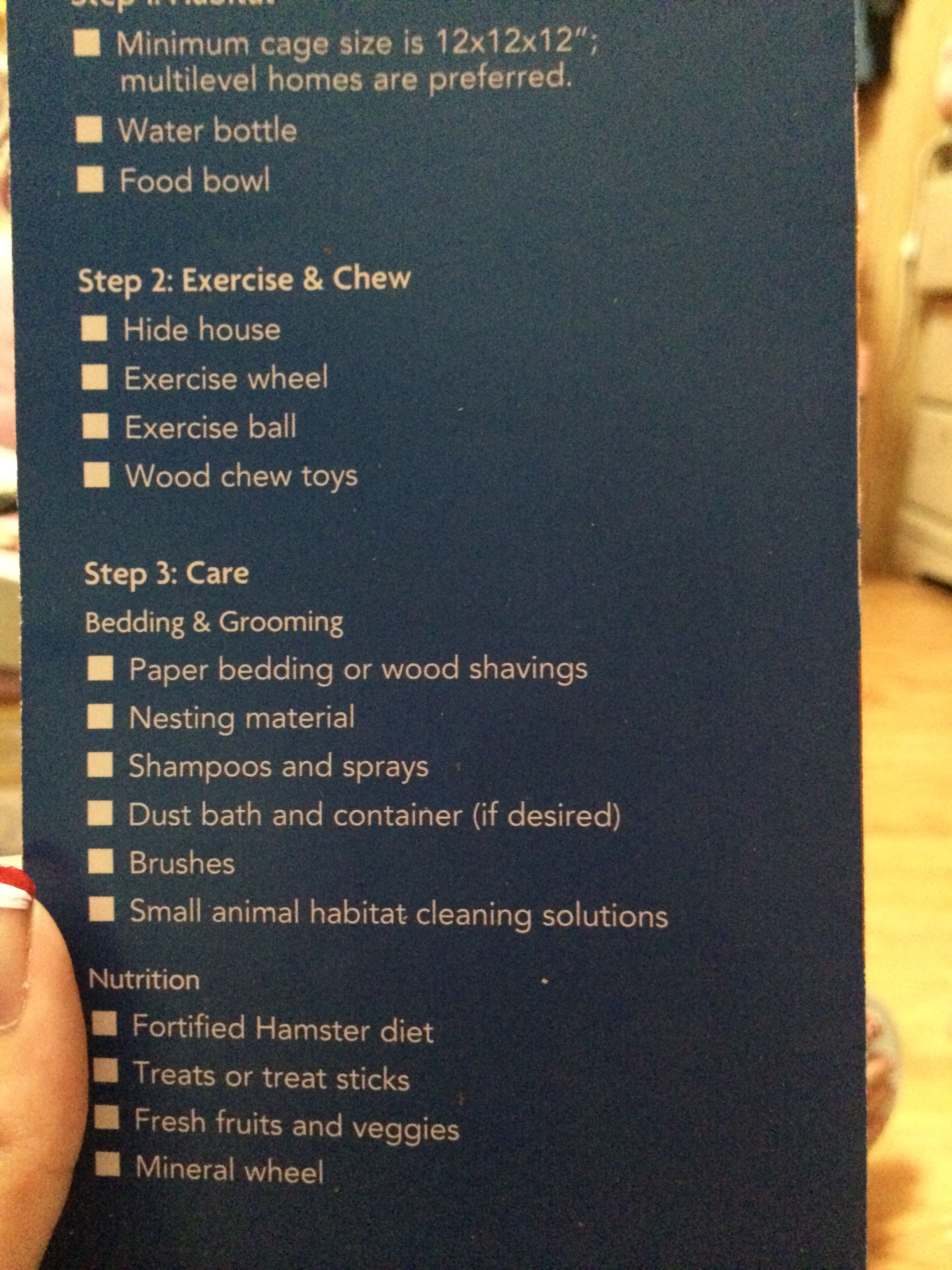 Petsmart Shopping List Container House Wood Beds Hamster Wheel