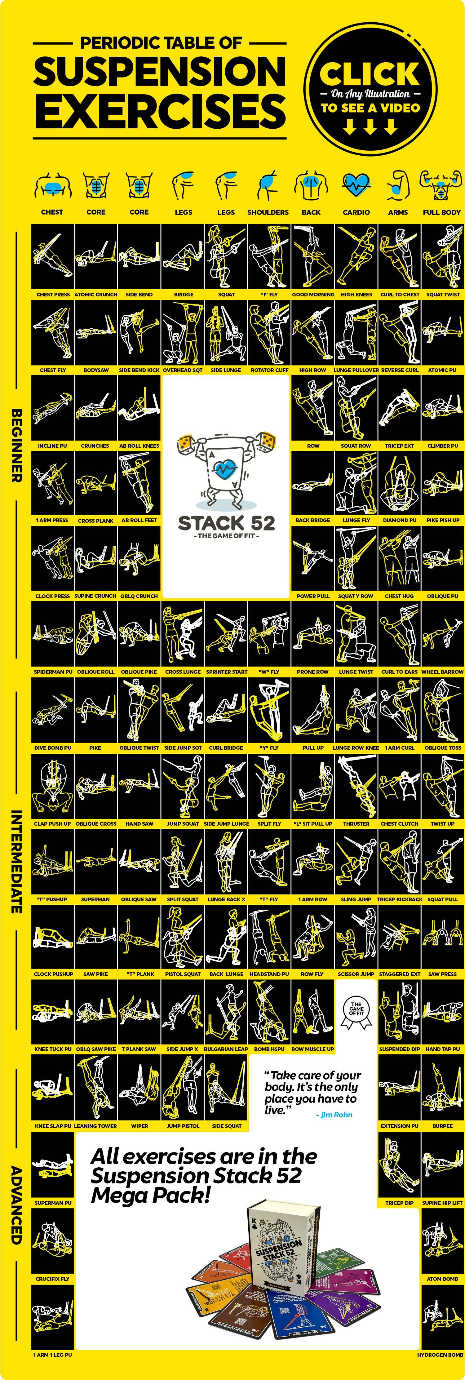 Build Strength & Muscle Home Gym Chart Eazy How To Yoga Wheel ...