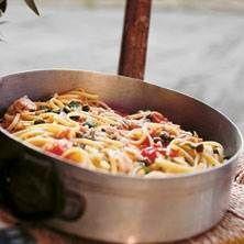 Linguine al tonno e pomodorini - svingod och perfekt matlåda