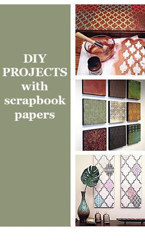 Making Scrapbook Paper Wall Art Is An Easy Inexpensive Way To Make Large With Your Choice Of Colors And Patterns