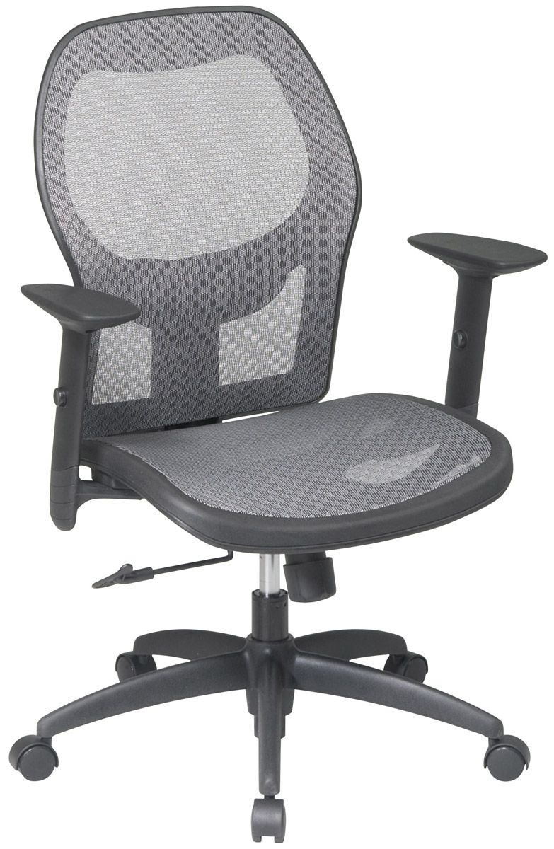 Office Chairs Adjustable Arms woven mesh matrix seat and back executive office chair with