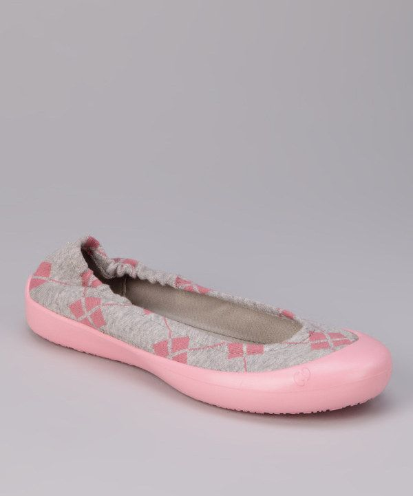 Take a look at this Cotton Candy Argyle Flat on zulily today!