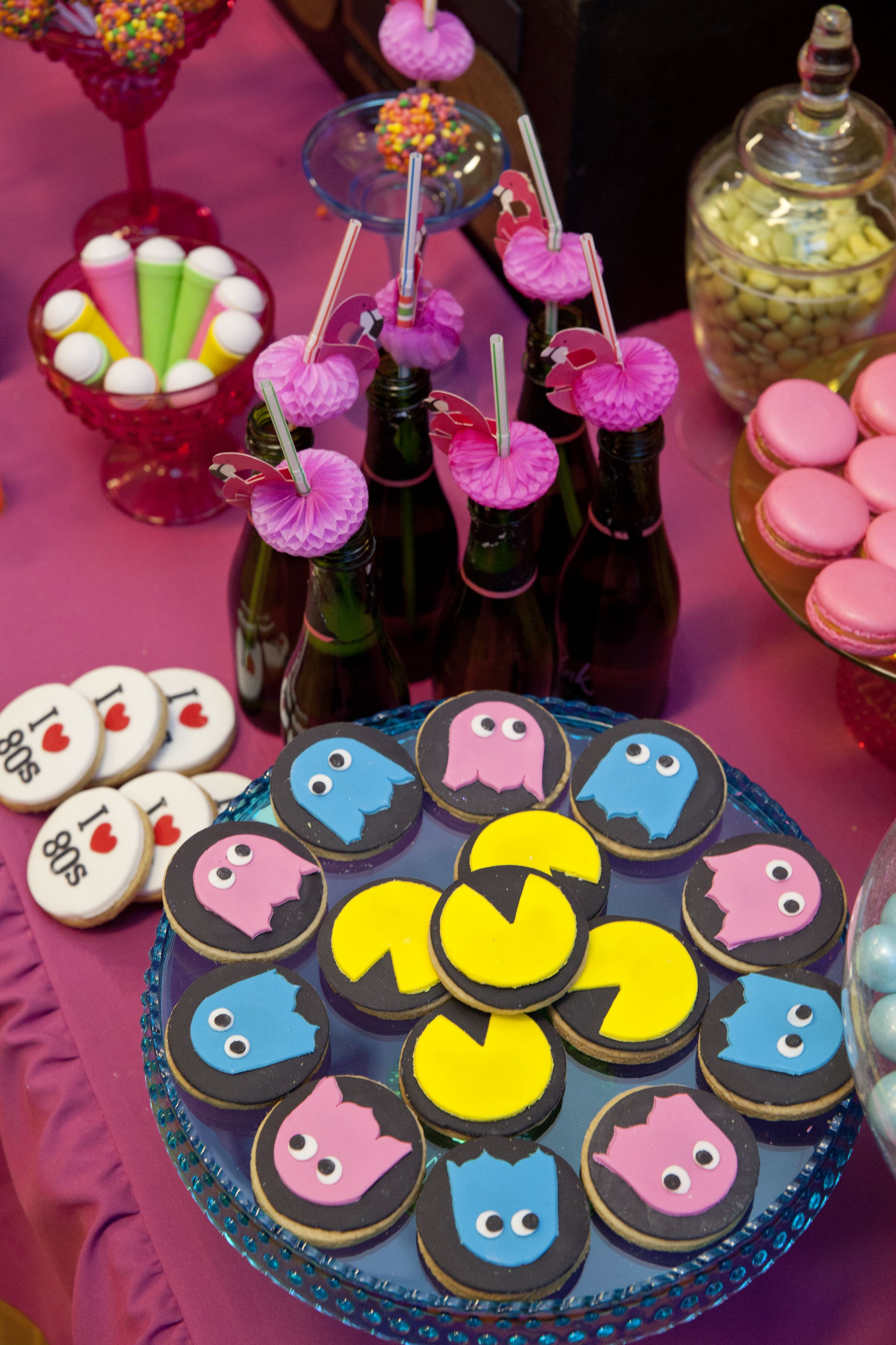 Pacman cookies from Little big Company's 80s party   The ...