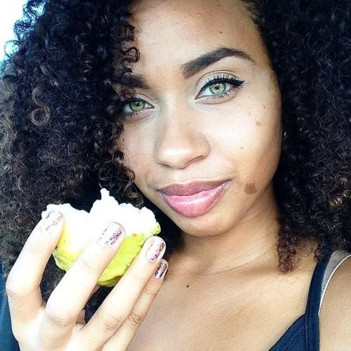 Beautiful Green Eyes Curlyhair Mixedrace Biracial With Images