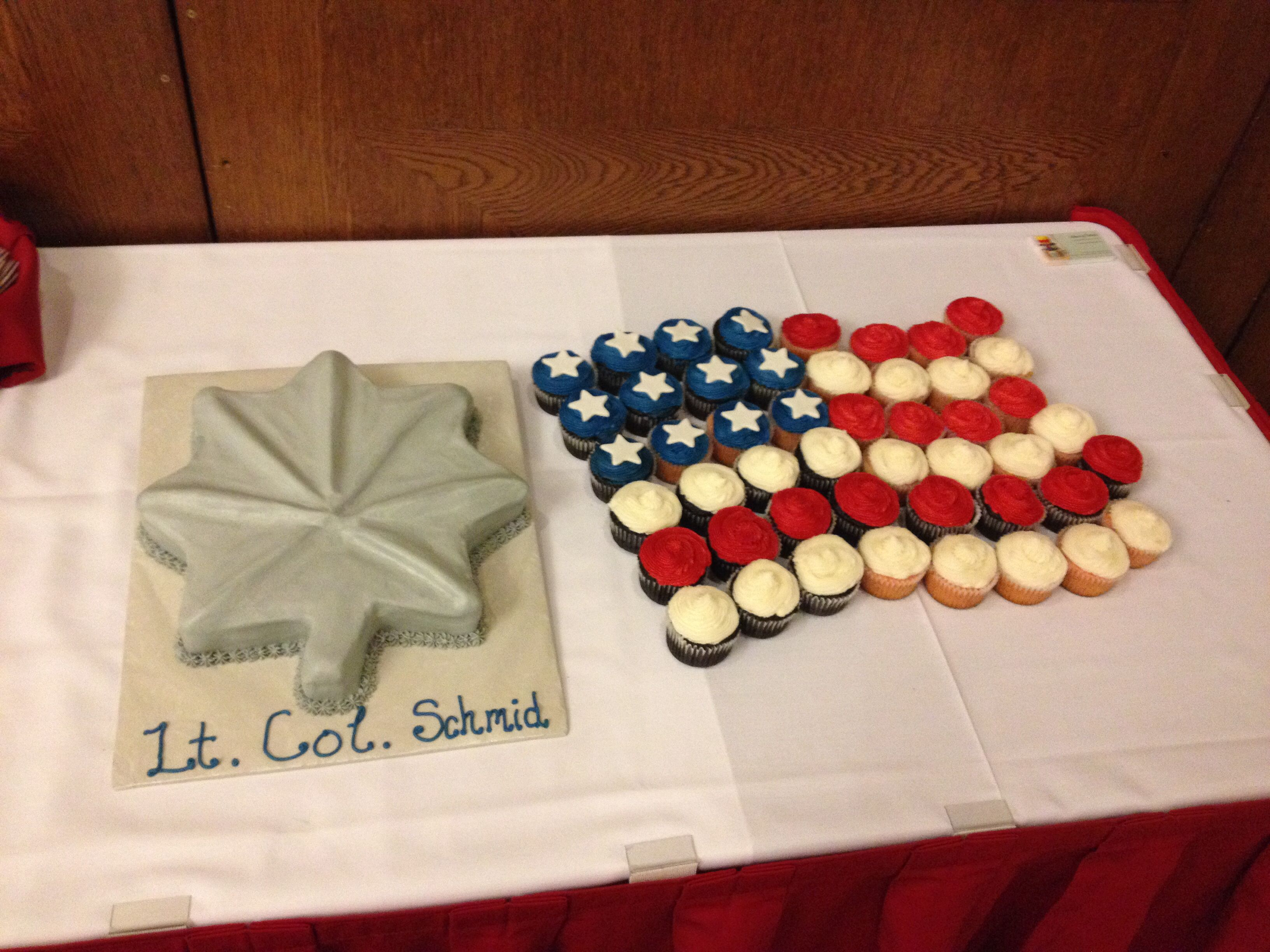 Lt. Col Promotion cake and cupcakes