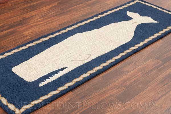 Handmade Nautical Whale Area Rug