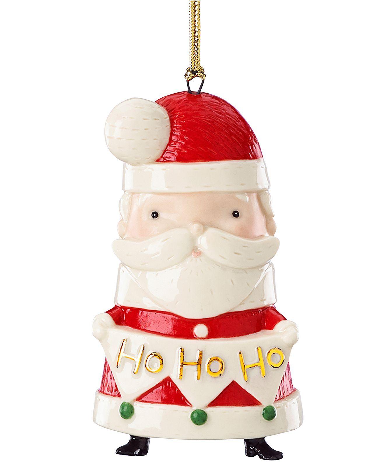 Lenox Christmas Ornaments, Festive Friends Santa ...