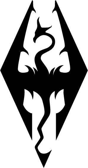 Skyrim Imperial Symbol Logo Vinyl Decal By Dressxpress On Etsy
