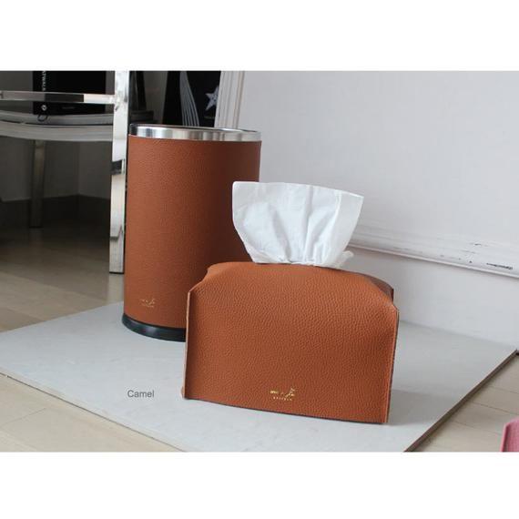 Urethane Leather Tissue Box Covers Tissue Case Cover Tissue Holder Dry Rose