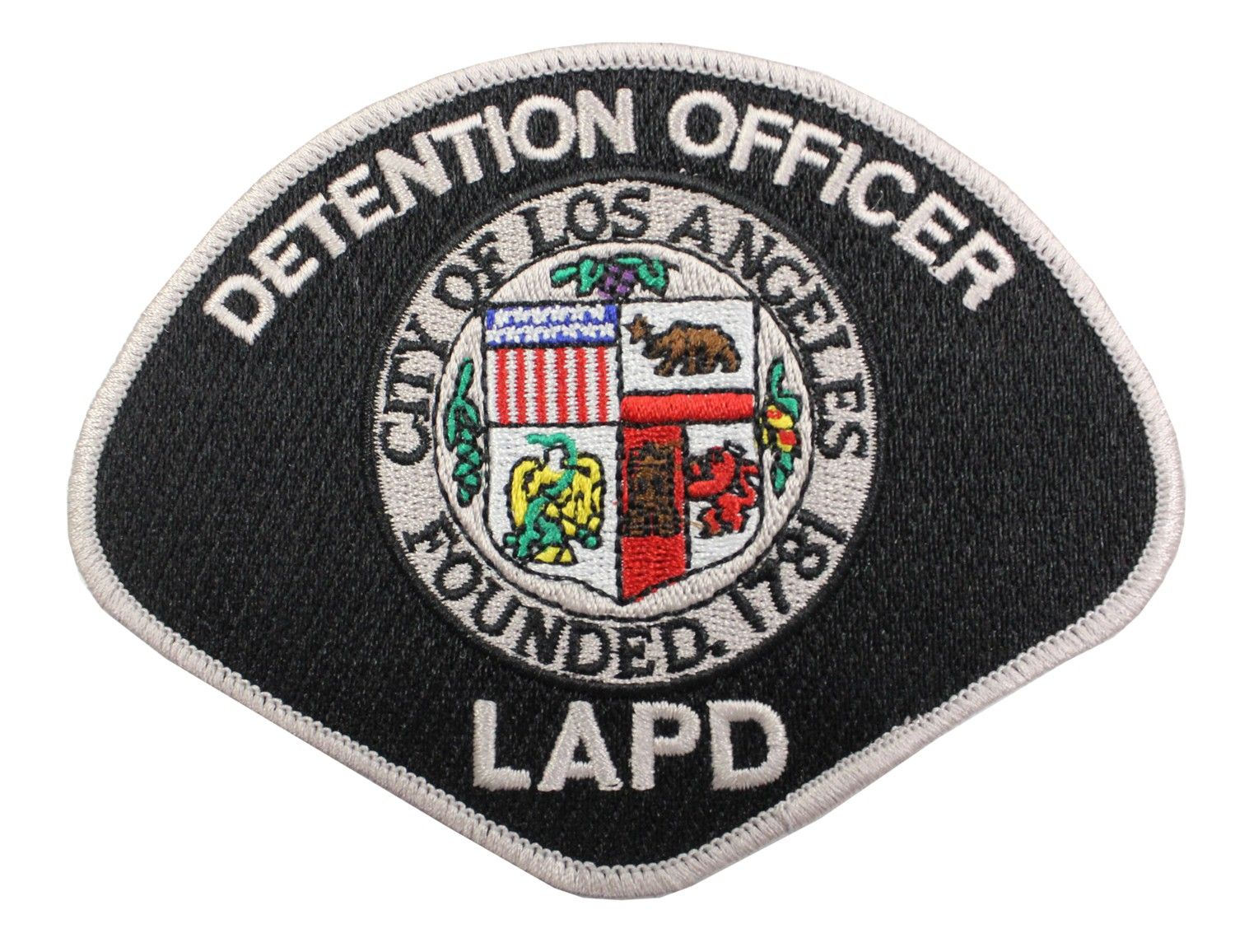 Us State Of California City Of Los Angeles Police Department Detention Officer Patch Los Angeles Police Department Police Patches California Highway Patrol