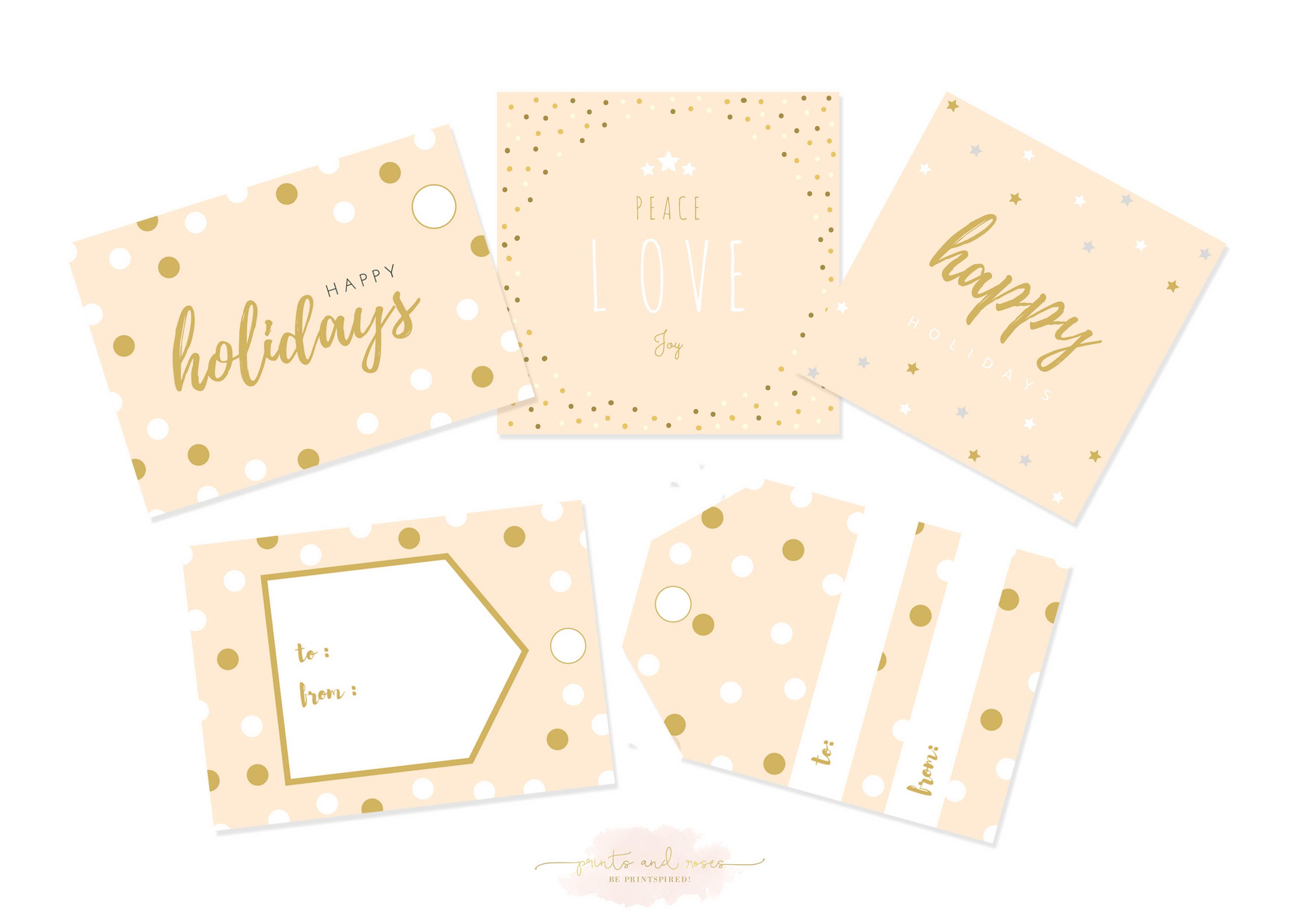 Printable Christmas Gift Tags,Xmas Gift Tags,Holiday Gift Tags,Favor ...