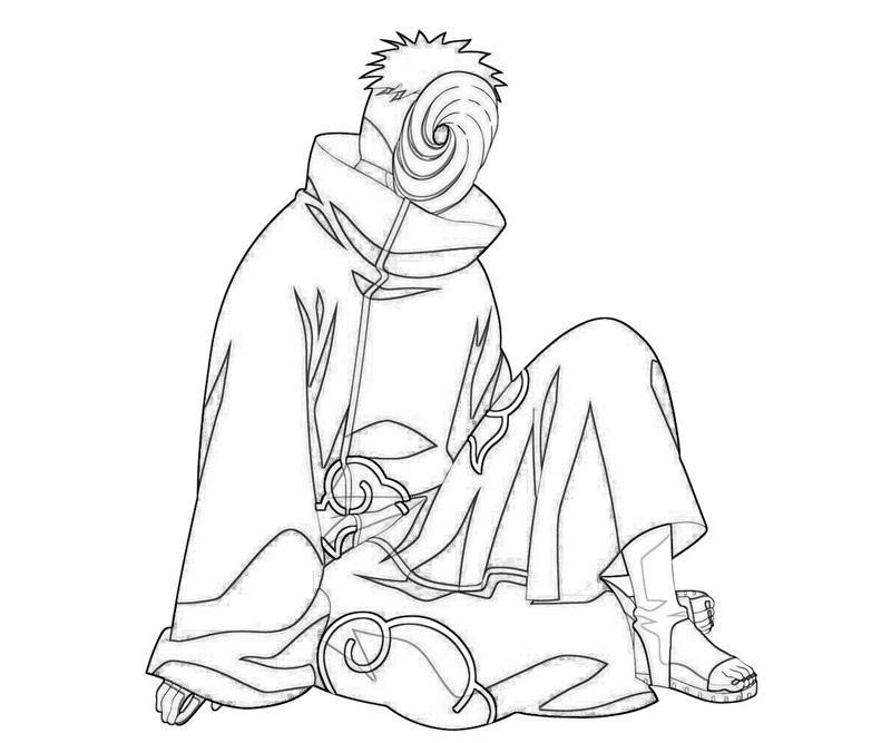 naruto coloring pages tobi character