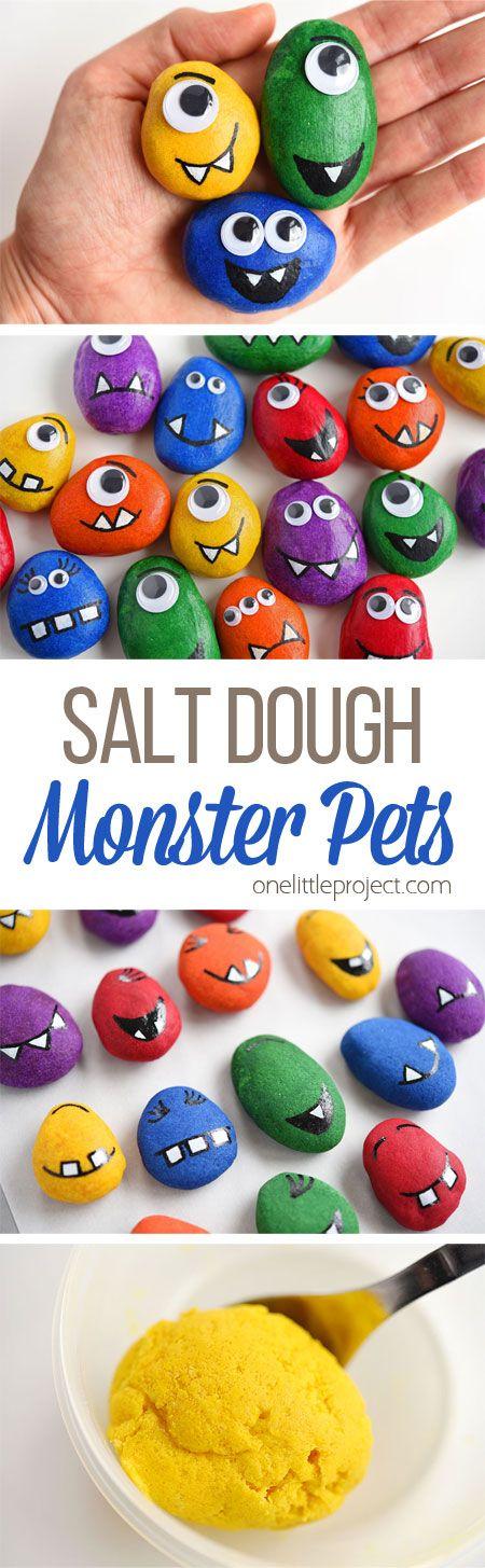 Monster Pets Recipe Salt Dough Mason Jar Diy Easy Arts Crafts