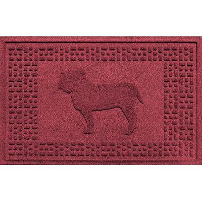 Bungalow Flooring Aqua Shield Bulldog Doormat Color: