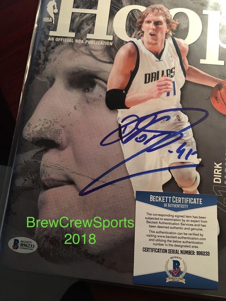 c343a8956f7 Dirk Nowitzki Signed Hoops Magazine Beckett Coa Mavericks (eBay Link ...