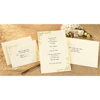 Staples Has The Wilton 9 X 6 X 2 6 Scrollwork Wedding Invitation Kit Diy Wedding Invitation Kits Wedding Invitation Kits Wedding Invitation Packages