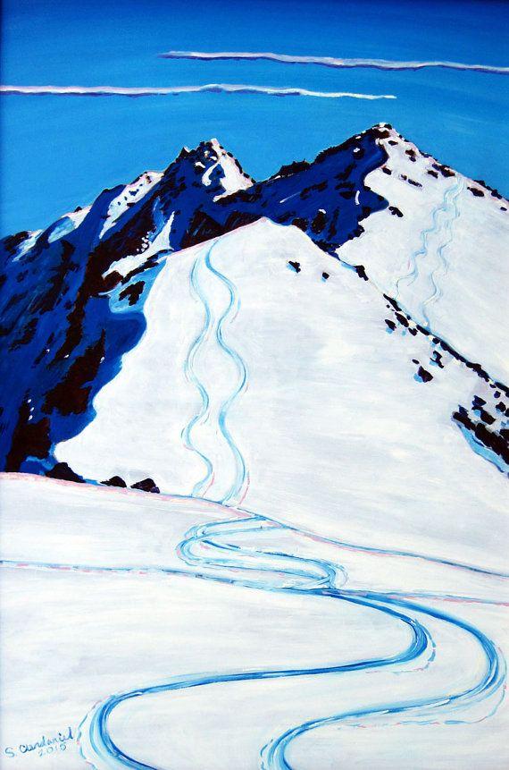 Alaska Skiing Art Groomsmen Gift For Skier Alaska