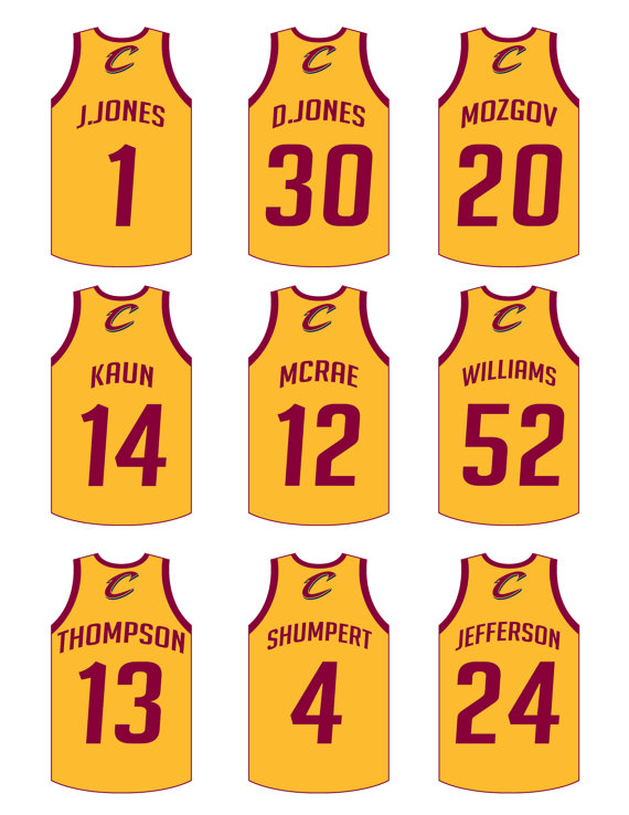 4868874491d6 Personalized basketball jerseys cutouts stickers cupcake toppers ...